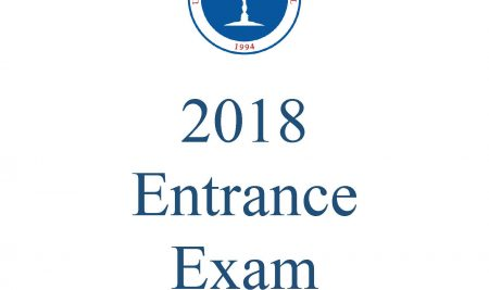 Entrance Exam 2018 Booklets